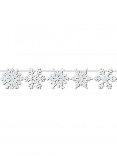 Ghirlanda di scintillanti fiocchi di neve