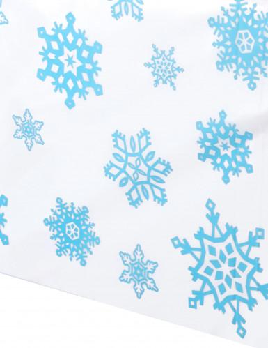 Tovaglia in plastica fiocchi di neve-1