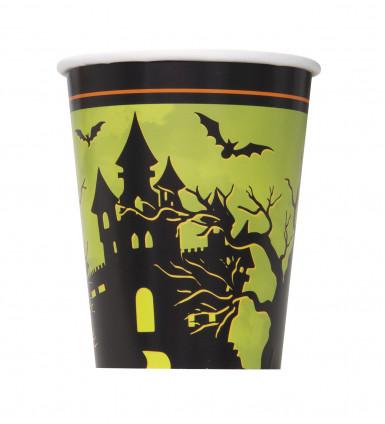 Pacco da 8 bicchieri in cartone stile Halloween