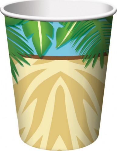 8 bicchieri per feste in stile Safari Adventure