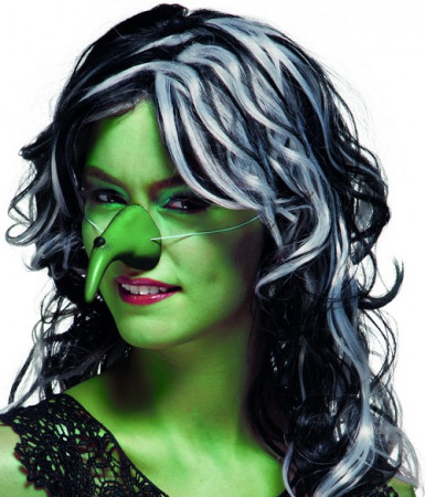 Naso verde da strega per Halloween da adulto
