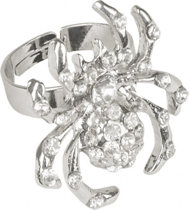 Anello ragno con finte pietre preziose