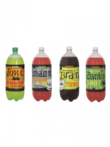 4 etichette per bottiglia mostruosamente simpatiche