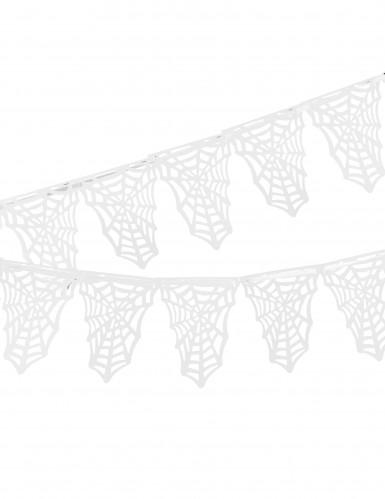 Ghirlanda di ragnatele bianche per Halloween