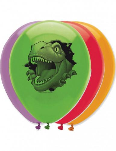 6 palloncini con stampa dinosauro