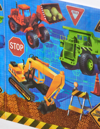 Tovaglia plastificata con immagini cantiere edile-1