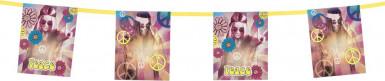 Ghirlanda con foto e simboli hippie