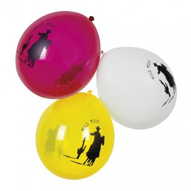6 palloncini Western in 3 colori