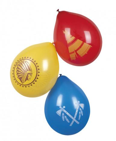 6 palloncini indiani multicolori