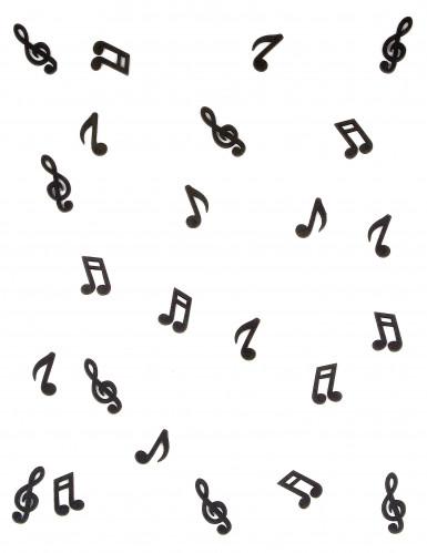 24 Note musicali in legno nero