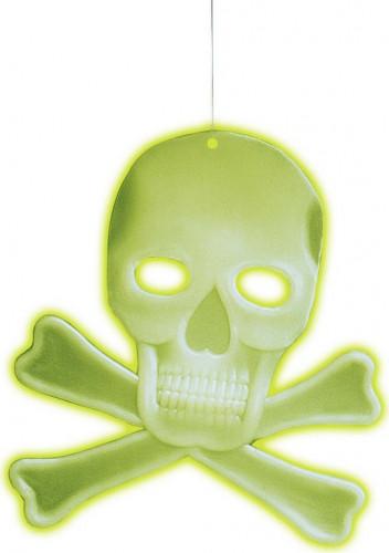 Addobbo teschio fosforescente Halloween
