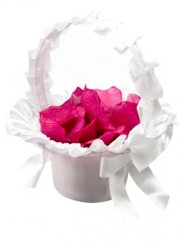 Cestino bianco per petali