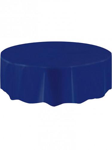Tovaglia rotonda plastificata di colore blu da 213 cm-1