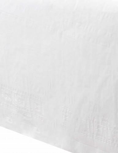 Tovaglia bianca di carta 137cm x 274cm-1