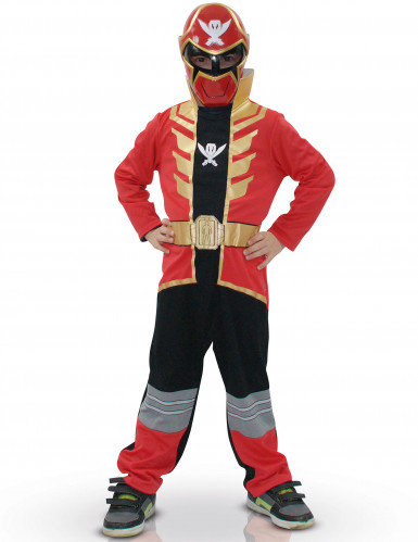 Costume originale da Power Ranger™ Super Mega Force rosso per bambino