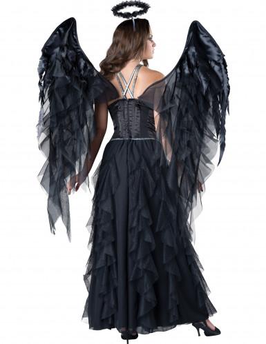 Costume Angelo Nero donna Halloween <br />- Premium-1