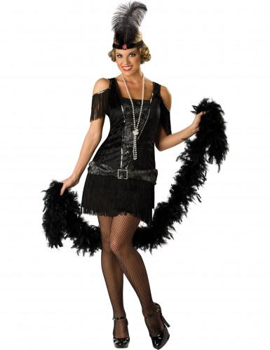 Costume da donna Charleston nero Deluxe