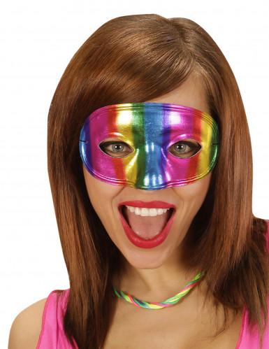 Maschera per adulto colori arcobaleno