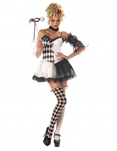Costume da Arlecchino sexy per donna
