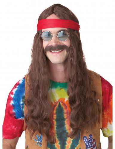 Parrucca e baffi da Hippie