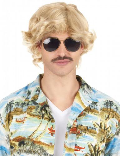 Parrucca bionda anni '70 per uomo
