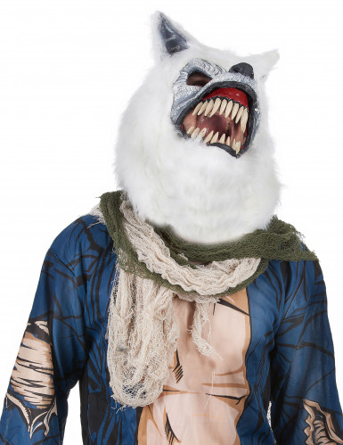 Maschera da lupo bianco-1
