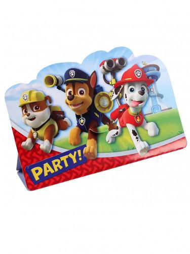 8 biglietti d'invito festa di compleanno con busta di Paw patrol™