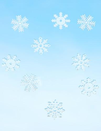 9 fiocchi di neve per Natale da finestra-1