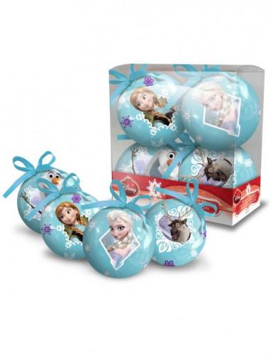 4 palle di Natale raffiguranti Frozen <br />- Il Regno di Ghiaccio™