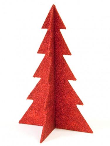 Decorazioni alberi di Natale rossi con brillantini