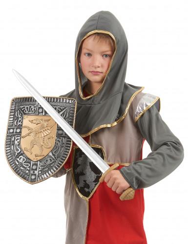 Kit spada e scudo gladiatore romano per bambino-2
