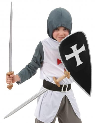 Kit con scudo e spade cavaliere crociato-1