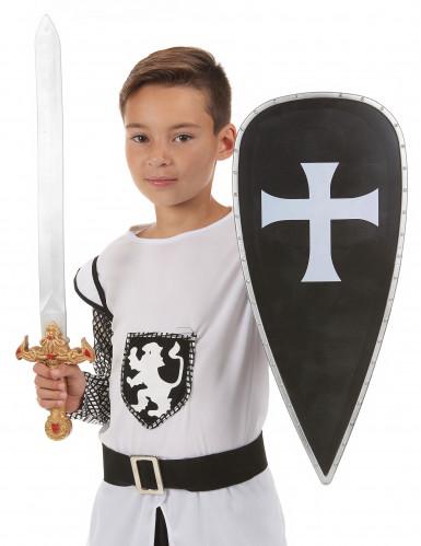 Scudo e spada da cavaliere crociato per bambino-1