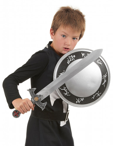 Kit accessori e costume da cavaliere per bambino