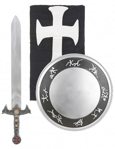 Kit accessori e costume da cavaliere per bambino-1