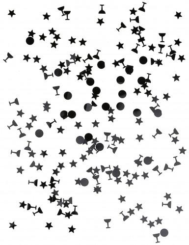 Tris di coriandoli di colore nero-1