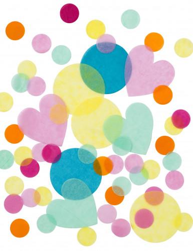 Coriandoli di carta velina pastello-2