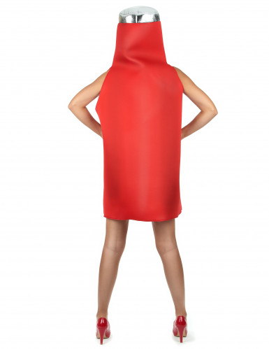 Costume bottiglia di ketchup adulto-4