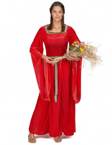 Costume medievale rosso da donna