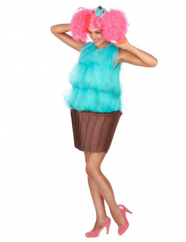 Costume cupcake turchese donna-1