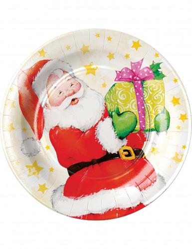 8 Piattini usa e getta Babbo Natale