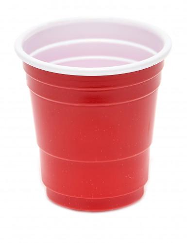20 Bicchierini di plastica rossa