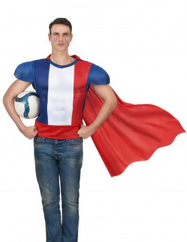 Maglietta da eroe francese con mantello