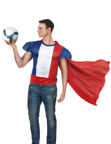 Maglietta da eroe francese con mantello-1