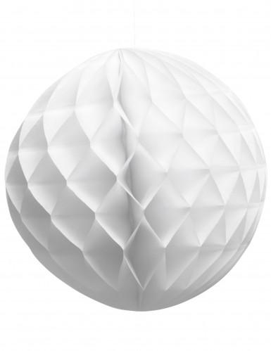 Palla di carta bianca struttura alveolata diametro 25 cm