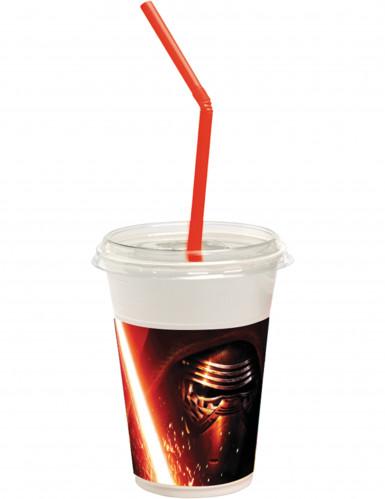 12 bicchieri muniti di coperchio e cannuccia Star Wars VII™