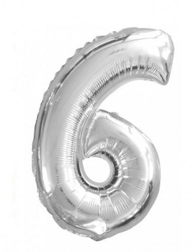 Palloncino numero 6 in alluminio
