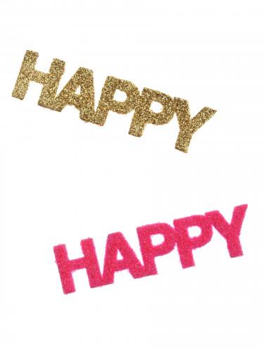Coriandoli Happy fucsia e dorati-1