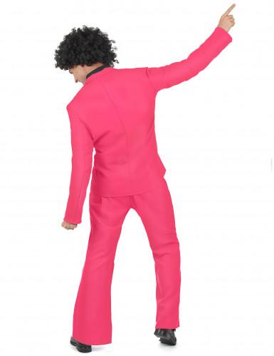Costume disco di colore rosa per uomo-2