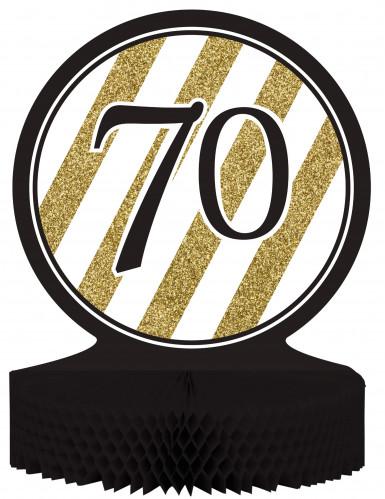Centrotavola 70 anni nero e oro